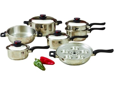 17pc T304 Stainless Steel Cookware Set