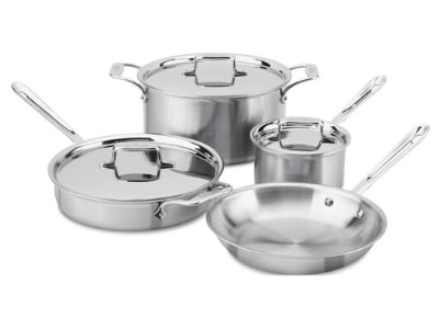 All-Clad BD005707-R D5 Brushed 18/10 Stainless Steel