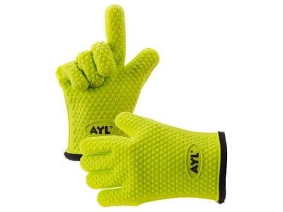 AYL Silicone Cooking Gloves - Heat Resistant Oven Mitt for Grilling, BBQ, Kitchen