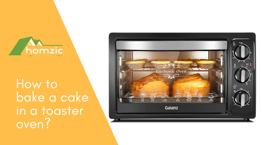 How to bake a cake in toaster oven